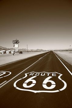 The infamous Route 66 in the USA